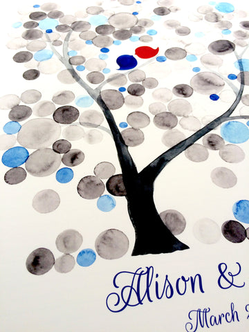Custom Signature Wedding Guest Book Alternative - Personalized signature guestbook - Event Tree, bridal shower, family reunion
