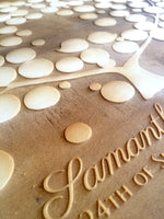 Load image into Gallery viewer, Engraved wood Guest Book - 150 signature spots - poplar wood finish