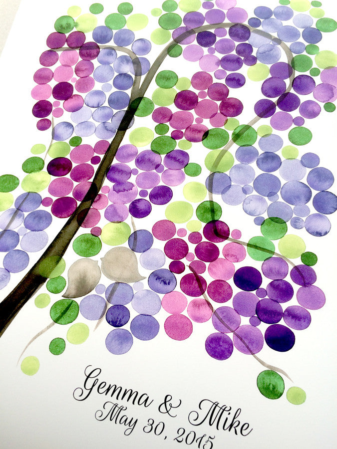Wedding Guest Book Alternative - Grape Vine  - 175 guest signatures Customizable Signature wedding guest book tree