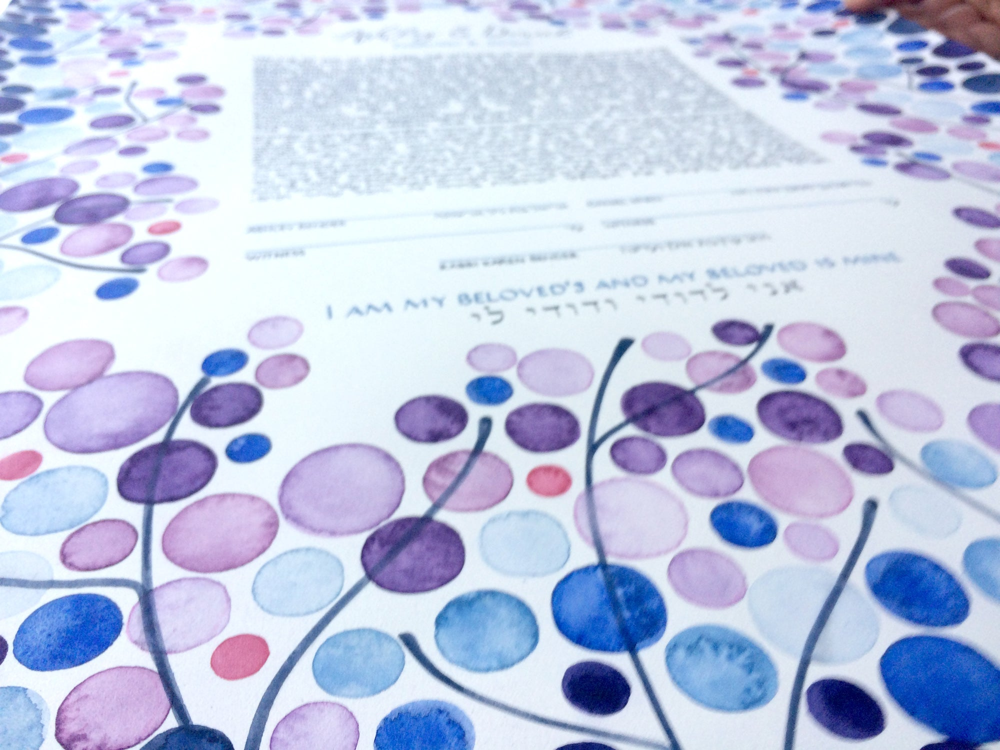 Mystique Garden Ketubah Original Jewish artWork