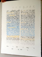 Load image into Gallery viewer, CALLIGRAPHY WATERCOLOUR KETUBAH painting with silver and gold leaf accents