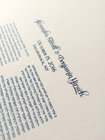 Load image into Gallery viewer, Simple yet Modern Ketubah design > Modern Layout Ketubah