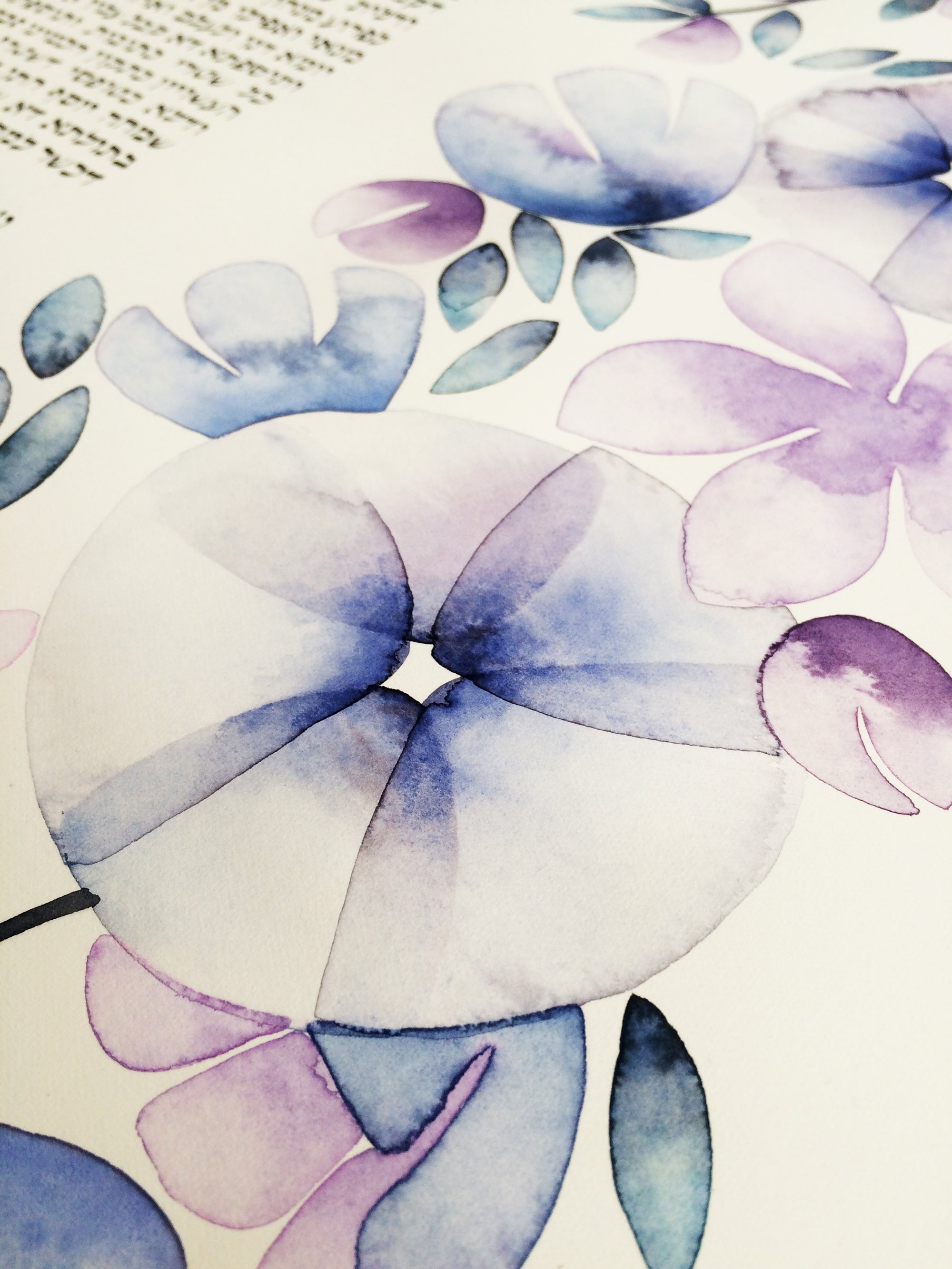 FLOWER GARLANDS Custom Orthodox Ketubah Artwork