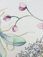 Load image into Gallery viewer, Watercolor Greenery Floral Wreath Ketubah < Trilingual Large Calligraphy