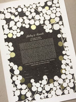 Load image into Gallery viewer, Papercut Ketubah with Gold Leaf ↛ Custom Ketubah papercut