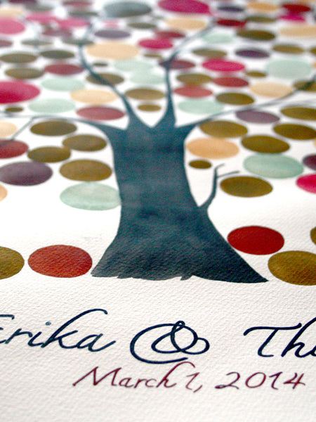 Signature Wedding Guest Book Tree Alternative - FRAGRANT ASH TREE 150 guest signatures Large guestbook, Event Tree Guest book, love birds
