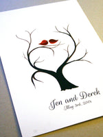 Load image into Gallery viewer, Wedding Guest Book Custom Fingerprint alternative