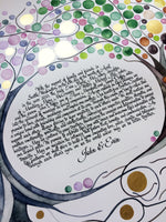 Load image into Gallery viewer, English only FOUR SEASONS KETUBAH ⤱ watercolor custom painting
