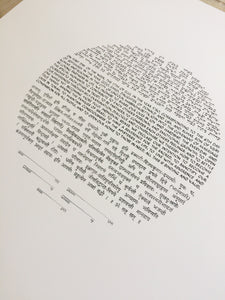Simple Ketubah Calligraphy < Painted Trilingual Ketubah