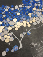 Load image into Gallery viewer, Custom Silver Leaf Ketubah print - JAPANESE MAGNOLIA