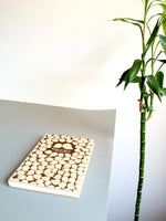 Load image into Gallery viewer, Wood Wedding Guest Book - Coptic Stitch binding Modern Sketchbook - BIRD CROWD