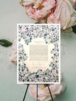 Load image into Gallery viewer, Greenery Wedding, Custom Ketubah, Artwork Commission, watercolor painting