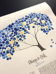 New York Blue Gold Jewish Wedding Ketubah