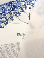 Load image into Gallery viewer, New York Blue Gold Jewish Wedding Ketubah