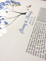 Load image into Gallery viewer, Multilingual Persian Gilded Ketubah < Bayville New York Wedding