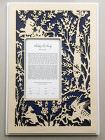 Load image into Gallery viewer, Woodcut Papercut Ketubah Saadi Shirazi