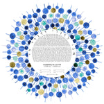 Load image into Gallery viewer, Bliss Burst Ketubah - Jewish weddings - Custom Ketubah Print, mid century modern, ketubah design
