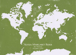 Wedding Guest Book  WORLD MAP