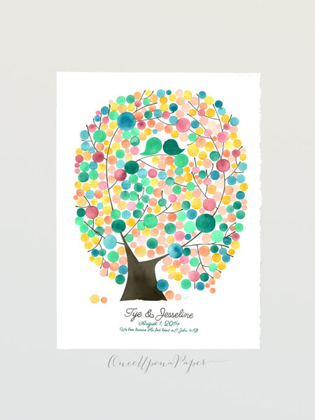Wedding Guest Book Oval Tree of Life - 300 guest signatures