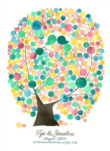 Wedding Guest Book Oval Tree of Life