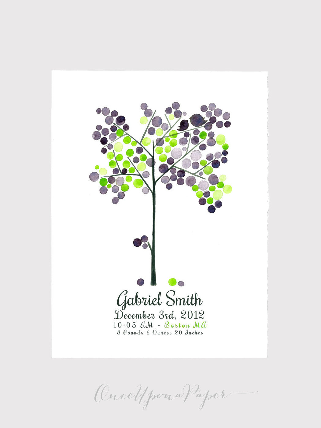 Wedding Gift - custom name EVENT TREE PRINT, kids wall decor, kids room decor, Baby shower, Anniversary, Special Day, Birthday, Graduation