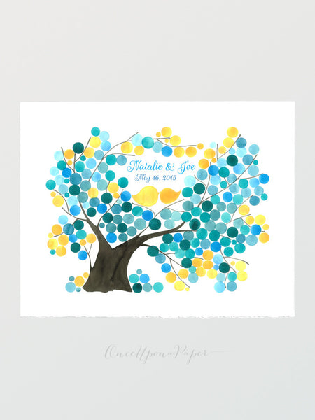 Wedding Guest Book Alternative SYCAMORE FIG TREE - 175 Guest Signatures - Guest book alternative, wedding wish tree, Guest Signature Print