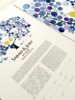 Load image into Gallery viewer, Trilingual Hebrew English Japanese Destination Wedding Ketubah and Guestbook