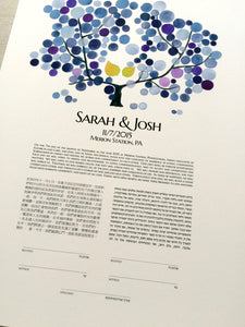 Trilingual Hebrew English Japanese Destination Wedding Ketubah and Guestbook