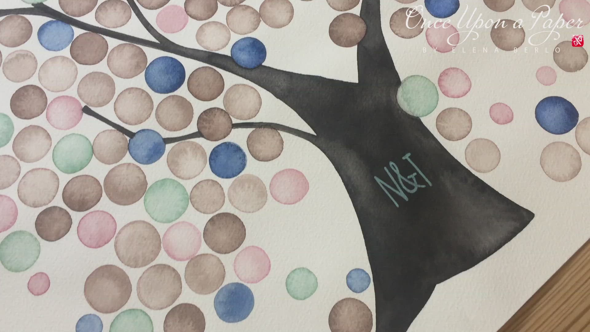Modern Wedding Engagement Bridal Shower Gift > alternative guest book tree