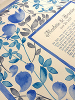 Load image into Gallery viewer, Modern Illuminated manuscript Watercolor Ketubah Custom Commission - EDEN GARDEN