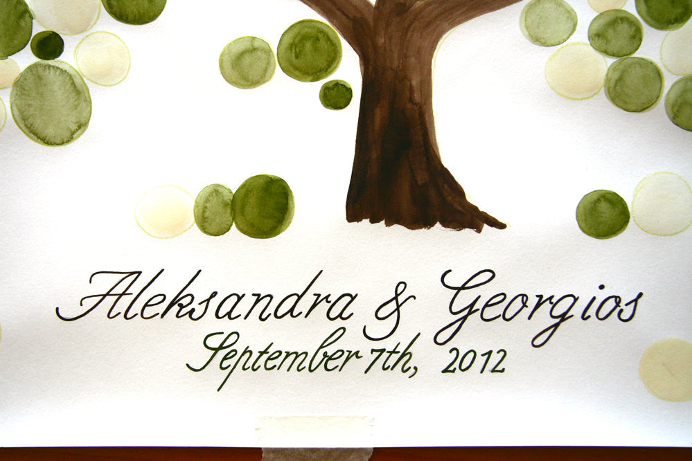 Custom Wedding Guest Book Tree - anniversary, bridal shower, love birds