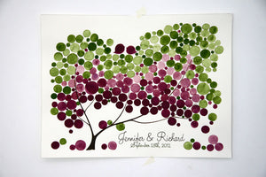 Signature Wedding Guest Book Tree Alternative - 150 guest signatures Large guestbook, Event Tree, love birds rustic tree of life