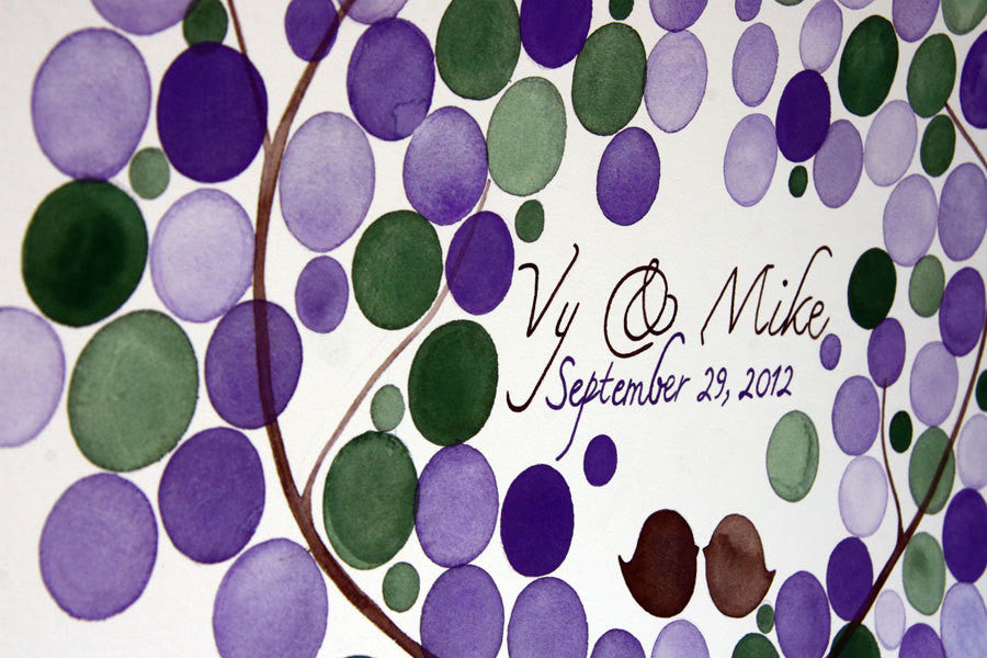 Custom Wedding Guest Book Tree Alternative - 175 guest signatures Large Custom Wedding guestbook, Event Tree Guest book, love birds