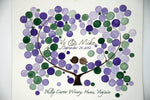 Load image into Gallery viewer, Custom Wedding Guest Book Tree Alternative - 175 guest signatures Large Custom Wedding guestbook, Event Tree Guest book, love birds