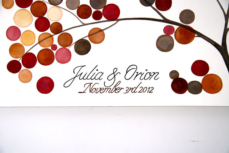 Unique Wedding Guest Book Alternative - 250 guest signatures Custom Signature rustic wedding guest book tree,  Our wedding Tree