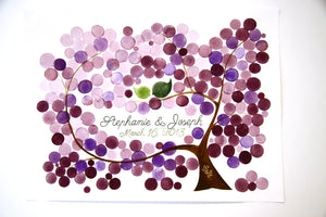 Custom Wedding Guest Book Tree Alternative - 175 guest signatures guestbook, Event Tree Guest book, love birds rustic tree of life