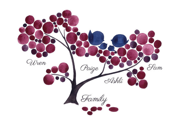 Wall art - Personalized Typography FAMILY Tree ANNIVERSARY PRINT, wall decor, room decor, art poster, Anniversary, Special Day, Birthday