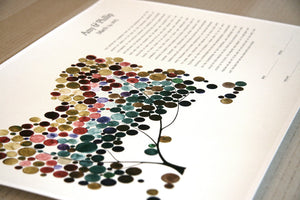 Personalized Giclee Ketubah Multicolor Tree