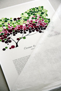Modern Ketubah Tree of Life and Love Birds