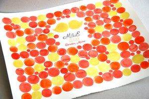 Custom Wedding Guest Book Signature Orbs - 150 guest signatures Guest book alternative, wedding penny tiles, Stone watercolor
