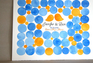 Unique Wedding Guest Book Signature - 75 guest signature Guest book alternative,  wedding penny tiles, Guest Signature Stone watercolor