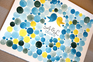 Personalized Wedding Guest Book Signature Orbs - 250 guest signatures Guest book alternative, wedding penny tiles, Stone watercolor