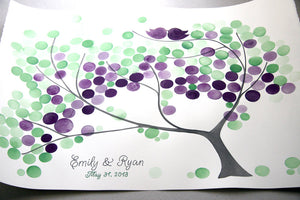 Signature Wedding Guest Book Tree Alternative - 150 guest signatures Large Custom Watercolor guestbook, Event Tree Guest book, tree of life