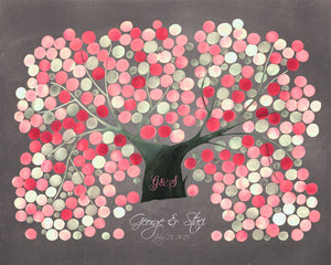 Sakura Wedding Guest Book Alternative CHRYSANTHEMUM CHERRY TREE