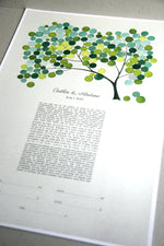 Load image into Gallery viewer, Modern Ketubah Spring Tree of Life Watercolor by Elena Berlo