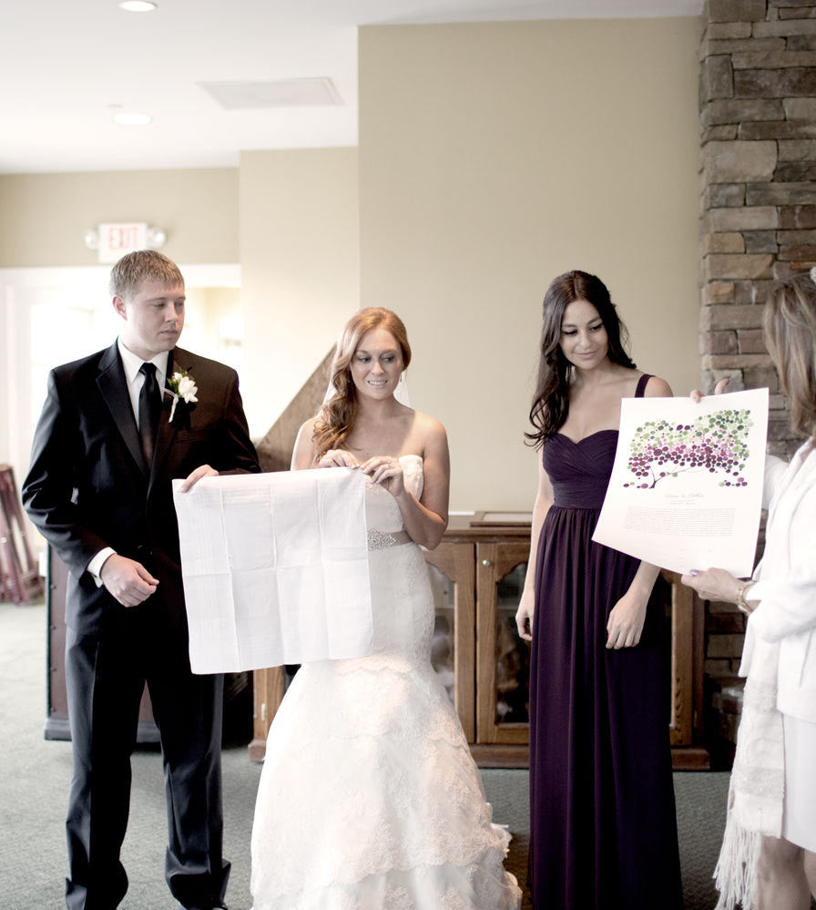 Jewish Ketubah marriage ceremony - JAPANESE BIGLEAF MAGNOLIA