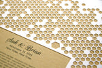 Load image into Gallery viewer, Papercut Ketubah Honeycombs, Modern abstract minimalist Ketubah Print with vintage book background