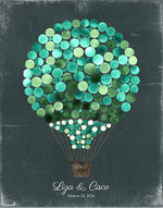 Load image into Gallery viewer, Wedding Guest Book Alternative Print HOT AIR BALLOON