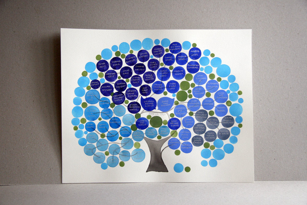 Personalized FAMILY TREE ArtWork, up to 50 names, wall decor, room decor, custom made