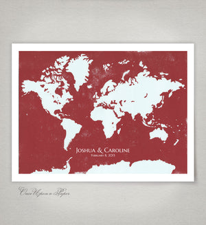 WORLD MAP Modern original Alternative Guestbook